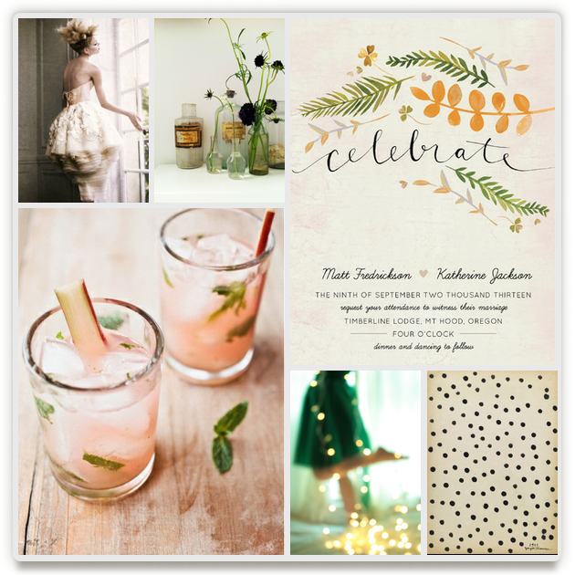 a greenhouse affair by Kayla King, see more Minted wedding invitations